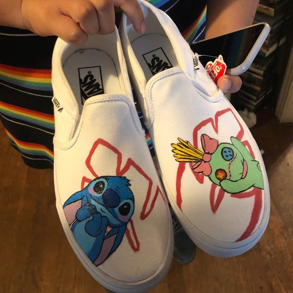 Vans Shoes   Lilo And Stitch Custom